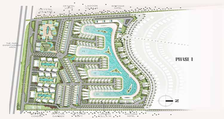 Katameya Coast North Coast Matar Plan by Starlight Developments - المخطط العام لمشروع قرية قطامية كوست الساحل الشمالي من ستار لايت للتطوير العقاري